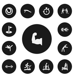 Set of 13 editable healthy icons includes symbols vector