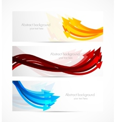 Set of banners with arrows vector