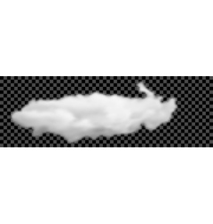 Set of transparent different white clouds vector image