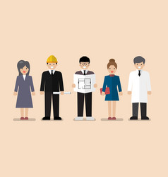 Set of variety occupation profession people vector