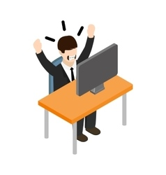 Stress situation at work icon isometric 3d style vector