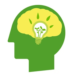Think go green vector