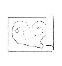 treasure map game icon vector image