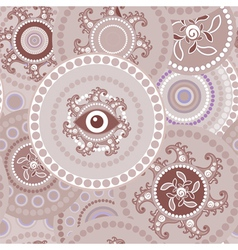 Tribal seamless paisley abstract texture vector image