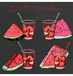 Watermelon 09 A vector image
