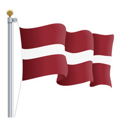 waving latvia flag isolated on a white background vector image