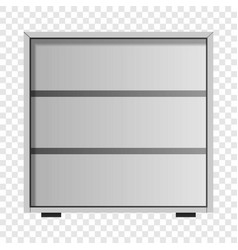 White drawer mockup realistic style vector