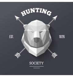 bear hunting society vector image vector image