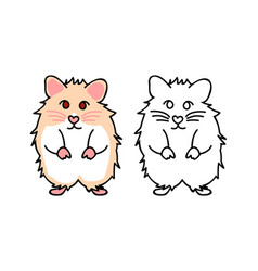 cute red eyes hamster vector image