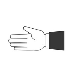hand open symbol vector image vector image