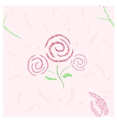 Roses and tulip seamless vector image