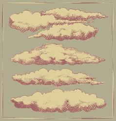 Vintage cloud background design vector image