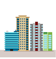 flat business city urban landscape for decoration vector image vector image