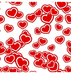 Hearts seamless pattern red vector image vector image