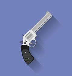 Icon of revolver pistol gun Flat style vector image