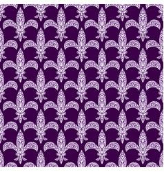 mardi gras fleur de lys decorated seamless vector image