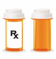 Pill bottle vector