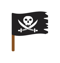 pirate flag isolated vector image vector image
