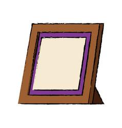 retro frame photo gallery decoration icon vector image