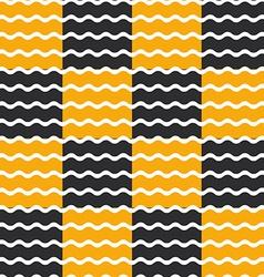 Black and orange wave background seamless pattern vector image vector image