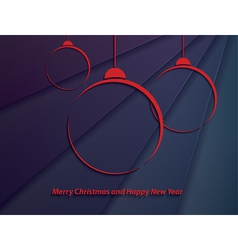 Christmas background with red christmas balls vector image vector image