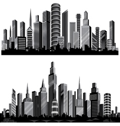 city silhouettes vector image