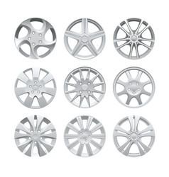close up of rims car alloy wheel aluminum wheel vector image