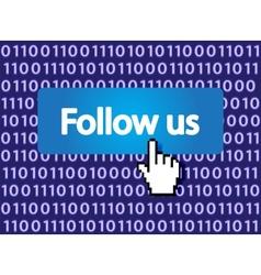 follow me vector image vector image