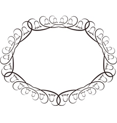 oval frame vector image vector image