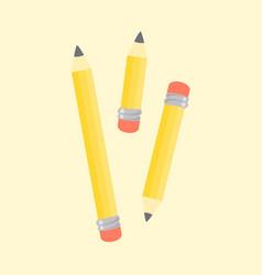 pencils stationary school supplies vector image