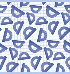 protractor seamless pattern vector image