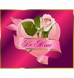 rosebud with banner vector image vector image