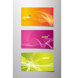 Set of abstract colorful labels with lines and vector image