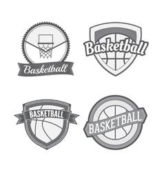 Set of Basketball vintage Labels vector image
