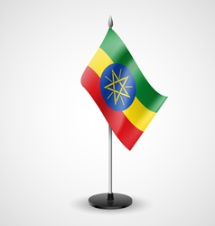 Table flag of ethiopia vector