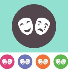 Theatre icon vector