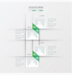 timeline design green gradient color vector image vector image