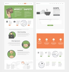 Website template with concept icons for business vector image