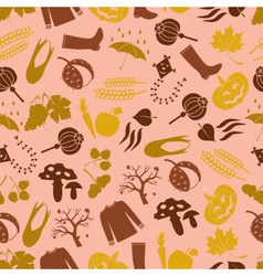 autumn color icons seamless pattern eps10 vector image vector image