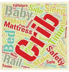 Baby cribs safety checklist text background vector