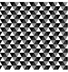 black geometric seamless pattern of triangles vector image