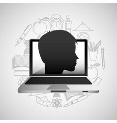 eduation online concept school background vector image