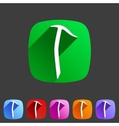 Ice axe icon flat web sign symbol logo label vector image