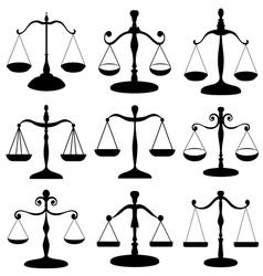 Law scale symbol set vector image