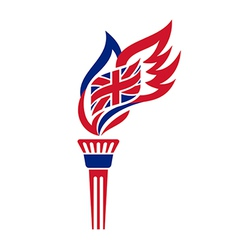uk torch vector image vector image
