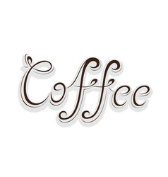 word of coffee vector image