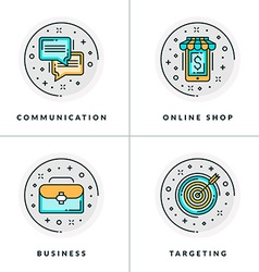 A set four icons on business issues vector