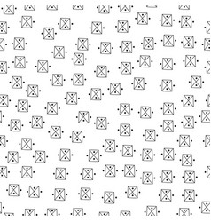 Abstract doodle seamless pattern black and white vector
