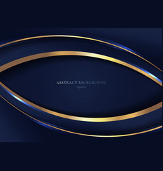 Abstract elegant blue curved geometric overlap vector