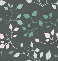 Abstract leaves a seamless pattern vector image